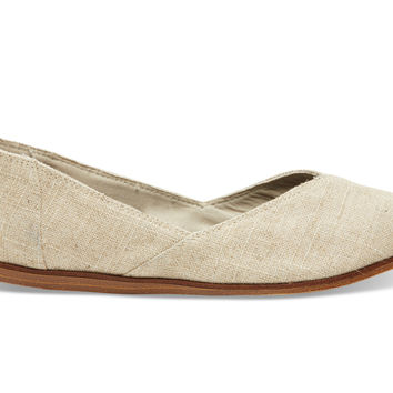 TOMS Natural Burlap Women's Jutti Flat Natural