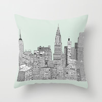New York vintage Throw Pillow by Bri.buckley