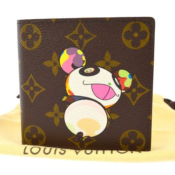 AUTHENTIC LOUIS VUITTON MONOGRAM PANDA TAKASHI MURAKAMI WALLET M61666 JT06157