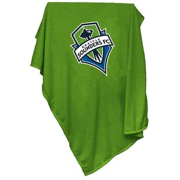 Seattle Sounders FC MLS Sweatshirt Blanket Throw
