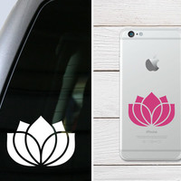 Lotus Flower Sticker - Lotus Flower Decal - Color Choice - Vinyl Sticker Vinyl Decal - Car Decal, Laptop Sticker, Phone Sticker, iPad Decal