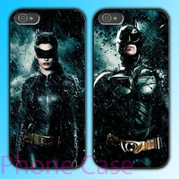 Batman and Cat woman design Couple love case for iPhone 4 case and iPhone 5 case.