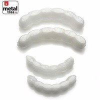 Jewelry Kay style Men's Molding Wax Fitting Silicone Fixing BarTop & Bottom Teeth Grillz 2pc Set