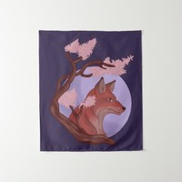 Sakura Fox Tapestry