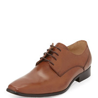 Just In Time Lace-Up Oxford Shoe, Cognac