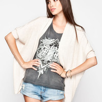 Full Tilt Essential Womens Cocoon Cardigan Oatmeal  In Sizes