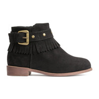 Ankle Boots with Fringe - from H&M