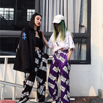 ALL OVER PRINTED CYBER PUNK JOGGER PANTS