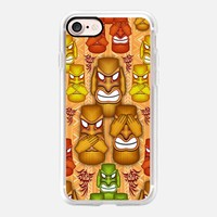Casetify iPhone 7 Classic Grip Case - Don't See Don't Hear Don't Speak Totems by BluedarkArt