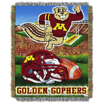 Minnesota Golden Gophers NCAA Woven Tapestry Throw (Home Field Advantage) (48x60)