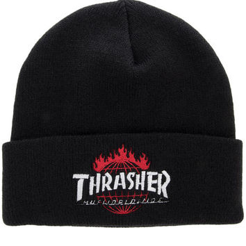 The Thrasher TDS Beanie in Black