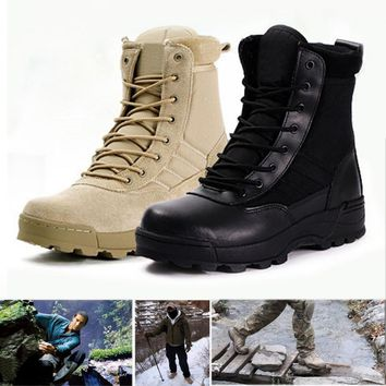 Winter Army Boots Mens Military Desert Boot Shoes Men Autumn Breathable Snow Ankle Boo