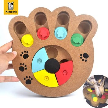 1 Pc Cats and Dogs Wooden Interactive Food Treat Educational Pet Puzzle Toy