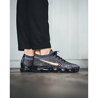 Best Deal Online 2018 Nike Air Max VaporMax Flyknit Black Gold Men Women Running Shoes