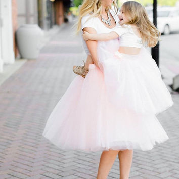 Mommy and Me matching Tutu, Mother daughter Tulle skirts, women's tutu, tulle skirt, ballet skirts, Plus size, Any Color