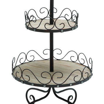 2 Tier Tray Styled With Beautiful Scroll Accents