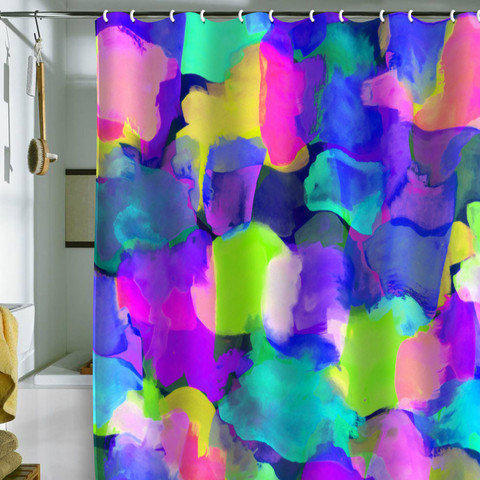 DENY Designs Home Accessories   Amy Sia Brushstroke Blue Shower Curtain