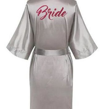 2018 Hot Women Satin Silk robes Gown Wedding Bride robe Bridesmaid Bridal robe HP002 AU