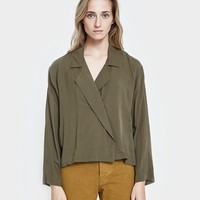 Jesse Kamm / The Newton Blouse in Olive