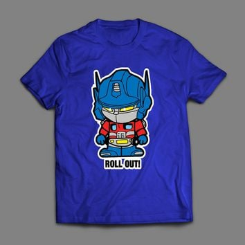 TRANSFORMER OPTIMUS PRIME ROLL OUT CARTOON T-SHIRT
