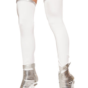 Roma Costume - White/Silver Space Commander Leggings