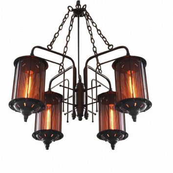 Countryside vintage industrial coffee bar edison chandelier pendant lamp light
