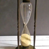 Brass Hour Glass/ Antique Hour Glass/ Vintage Brass Hour Glass