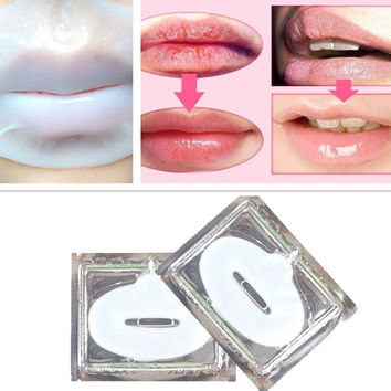 Effective Crystal Collagen Lip Mask Moisturize and nourishing exfoliating lip care dilute lip color wrinkles killer A4