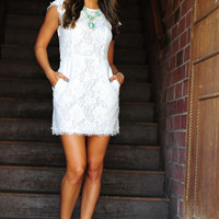 RESTOCK: Kiss The Bride Dress: White Lace