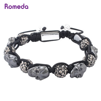 Shiny Awesome Stylish Hot Sale Great Deal Gift New Arrival Men's Fashion Skull Handcrafts Jewelry Bracelet [10579381059]