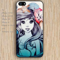 iPhone 5s 6 case Cartoon mermaid case phone case iphone case,ipod case,samsung galaxy case available plastic rubber case waterproof B263