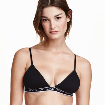 Soft-cup Triangle Bra - from H&M