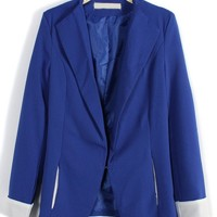 Chic Color Block Blazer - OASAP.com