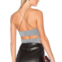 T by Alexander Wang Strappy Cami in Heather Grey | REVOLVE
