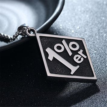 Stainless Steel Casting 1%er Pendants Necklace