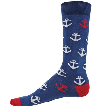 ANCHORS Mens Novelty Socks