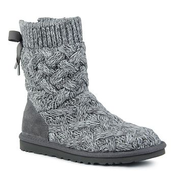 """UGG"" Bow Bandage Knit Warm Snow Boots"