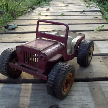 Vintage 1960's Red Tonka Dune Buggy Steel Toy JEEP
