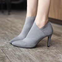 America pointed toe high-heeled women's boots autumn and winter fitted women
