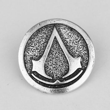 RJ Fashion Game Jewelry Assassin's Creed Logo Brooches Hot Sale Game The Thrones Brooch Revers Pin For Women Men Jewelry