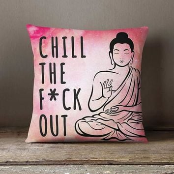 Zen Pillow Buddha Decor Yoga Throw Pillow Cover