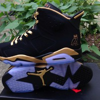 Air Jordan 6 Black gold Basketball Shoes 41-47