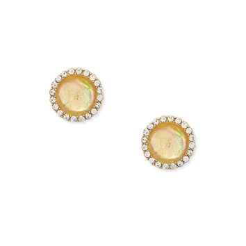Rhinestone Halo Stud Earrings