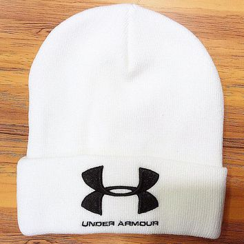 Under Armour Hip Hop Women Men Beanies Winter Knit Hat Cap