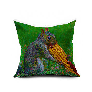 Cotton Flax Pillow Cushion Cover Animal   DW093