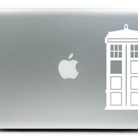 Doctor Who Tardis iPad Car Notebook Decal Sticker 4""