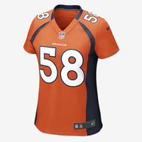 The NFL Denver Broncos (Von Miller) Women's Football Home Game Jersey.