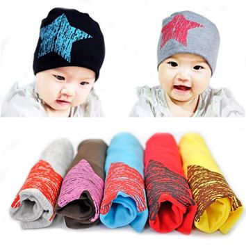 Baby Kid Toddler Cute Stars Printed Hat Warm Beanies, Kids Winter Autumn Lovely Knitted Hat, fotografia