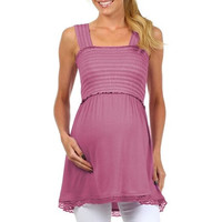 Sophia Sleeveless Empire Access Babydoll Nursing Top