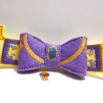 Arabian Princess inspired 3D felt bow felt clippie physical item made to order